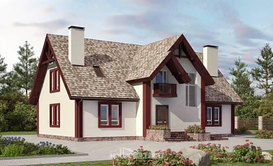 Проекты дачных домов мансардой + фото